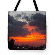 Flaming Sunrise Tote Bag