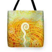 Flaming Sword Tote Bag