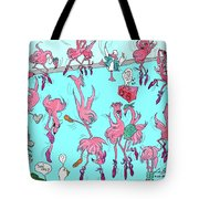 Flamingo A Go Go Tote Bag