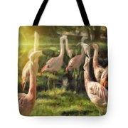 Flamingo Art Tote Bag