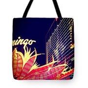 Flamingo At Night Tote Bag