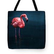 Flamingo - Blue Tote Bag