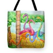 Flamingo Dingos Tote Bag
