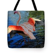 Flamingo Flight Tote Bag