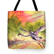 Flamingo In Alcazar De San Juan Tote Bag