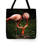 Flamingo Mirrored Tote Bag