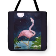 Flamingo Moon Frog Cathy Peek Tropical Bird Tote Bag