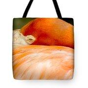 Flamingo Napping Tote Bag