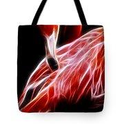 Flamingo Portrait Fractal Tote Bag