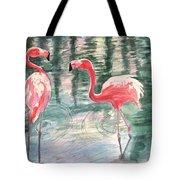 Flamingo Time Tote Bag