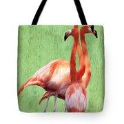 Flamingo Twist Tote Bag by Jeff Kolker
