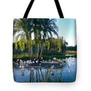 Flamingo Watering Hole Tote Bag