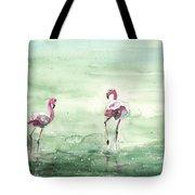 Flamingos In Camargue 02 Tote Bag