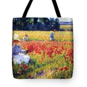 Flanders Fields Where Soldiers Sleep And Poppies Grow Tote Bag