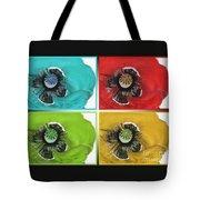 Flanders Poppy Pop Art Tote Bag