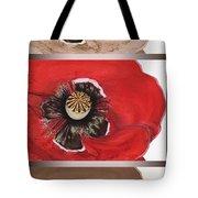 Flanders Poppy Triptych Tote Bag