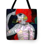 Flapper Girl In Glass Tote Bag