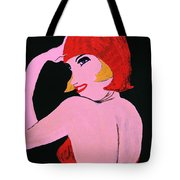 Flapper Girl In Orange C1929  Tote Bag