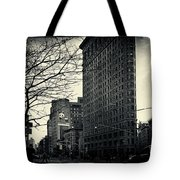 Flat Iron Building Fifth Avenue And Broadway Tote Bag