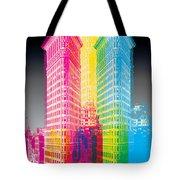 Flat Iron Pop Art Tote Bag by Gary Grayson