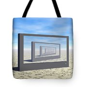 Flat Screen Desert Scene Tote Bag