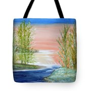 Flathead Lake Sunset Tote Bag
