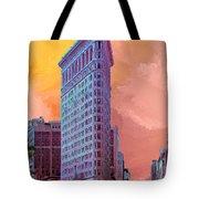 Flatiron Building At Sunset Tote Bag