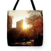 Flatiron Building Sunset - Madison Square Park Tote Bag
