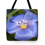 Flax Flower Tote Bag