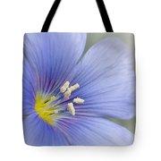 Blue Flax Close-up Tote Bag