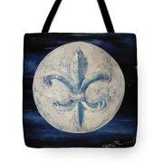 Fleur De Lies Moon Tote Bag
