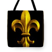 Fleur De Lis In Black And Gold Tote Bag