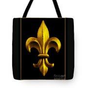Fleur De Lis In Black And Gold Tote Bag