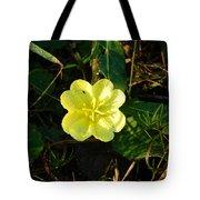 Fleur Jaune Couverte De Rosee Tote Bag