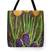 Fleurs D' Tulips And Hyacinths Tote Bag