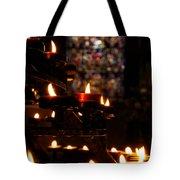 Flickering Prayers Tote Bag