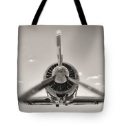 Flight In Black And White Tote Bag