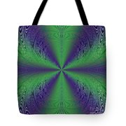Flight Of Fancy Fractal In Green And Purple Tote Bag