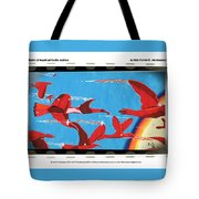 Flight Of Magical Gulls Anime Tote Bag