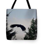Flight Of The Black Crow Tote Bag
