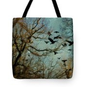 Flight Of The Forest Crows Tote Bag