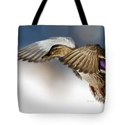 Flight Of The Mallard Tote Bag