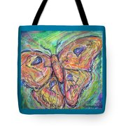 Flight Of The Moth Tote Bag