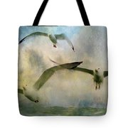 Flight Of The Seagulls Tote Bag