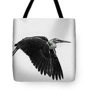Flight Of The White Necked Heron V2 Tote Bag