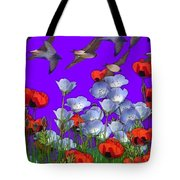 Flight Over Poppies Tote Bag