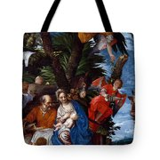 Flight To Egypt With Angels Tote Bag
