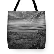 Flightpath-black And White Tote Bag