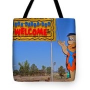 Flinstones Bedrock City In Arizona Tote Bag