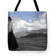 Flirty Fairy Black And White Tote Bag